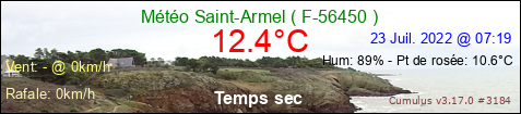 Current Weather Conditions in Saint-Armel 56-FRANCE